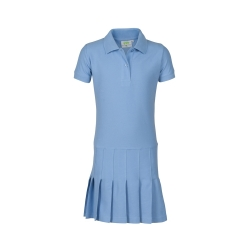 Polodress, short sleeves with pleats